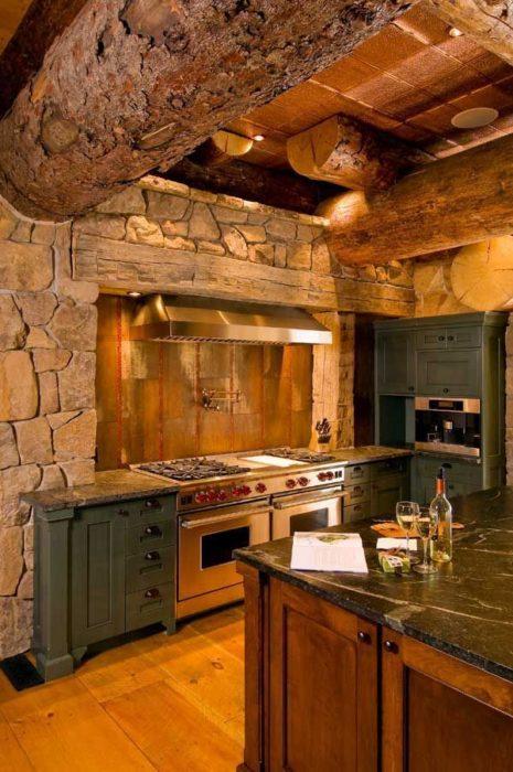 Дизайн маленькой кухни в частном доме фото