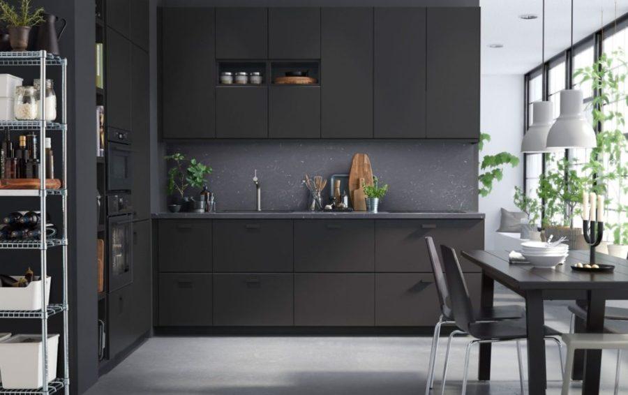 маленькая черная кухня