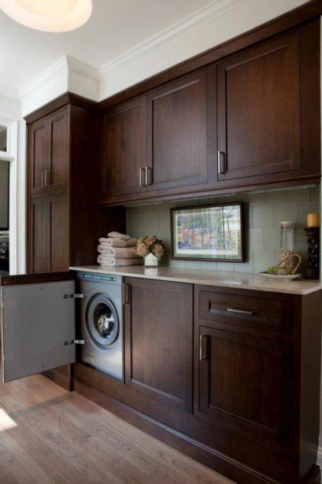 кухня местом стиральную машину