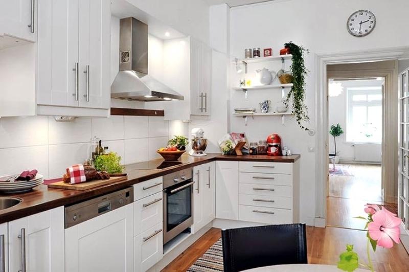 скандинавская кухня в хрущевке