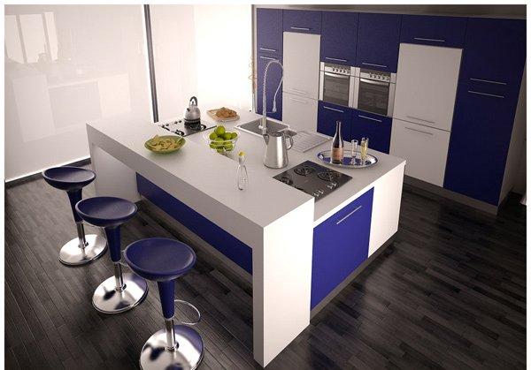 кухня с барной стойкой совмещенная