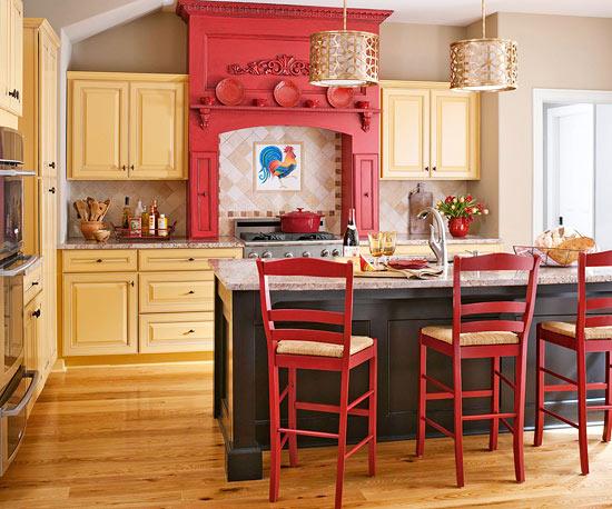 желто красная кухня