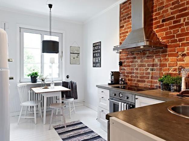 дизайн маленькой кухни совмещенной с гостиной