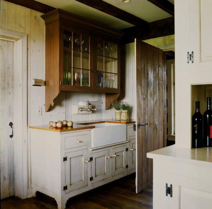 кухня столешница винтажное дерево