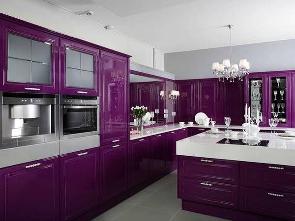 темно фиолетовый в интерьере