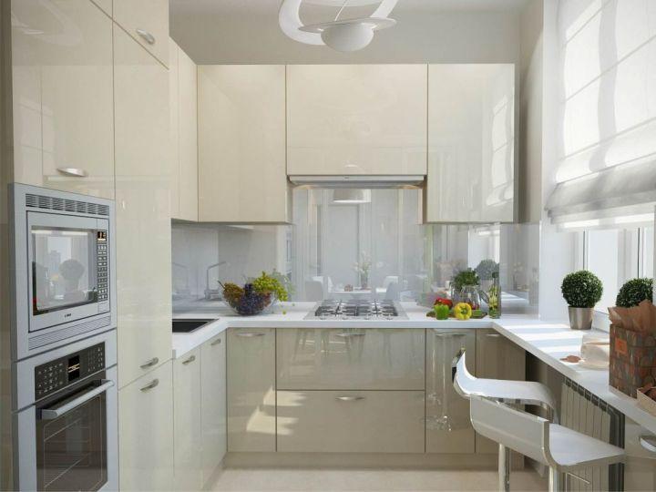 современные шторы на кухню фото