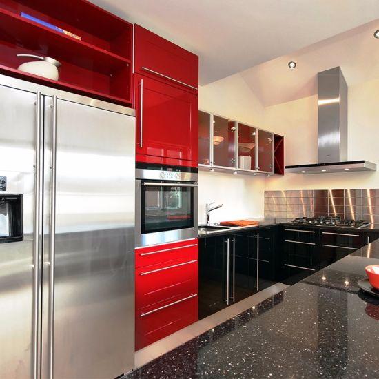 с какими цветами сочетается красная кухня