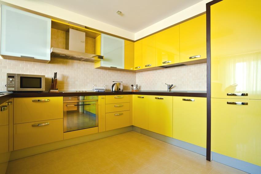 желтая кухня дизайн