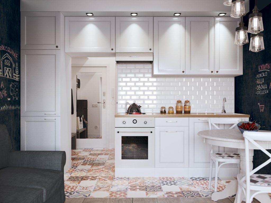 гостиные студии с кухней фото