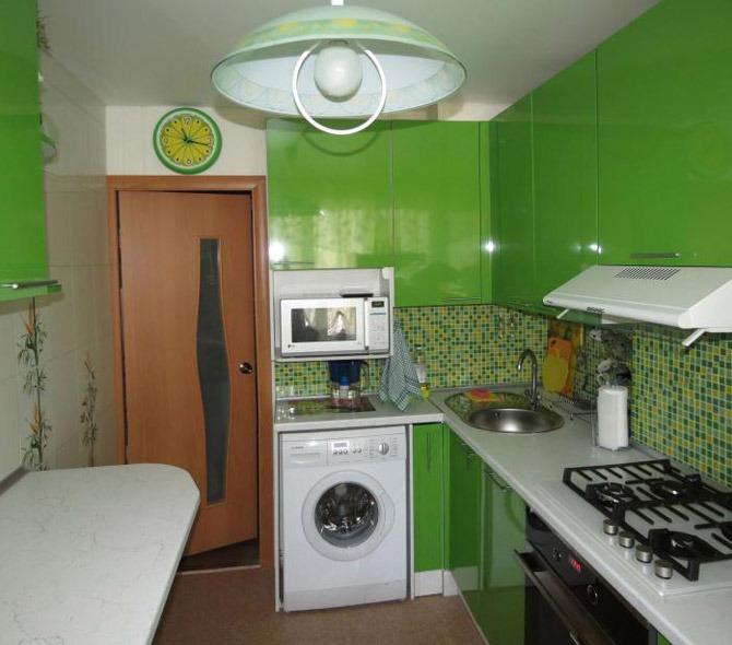 зеленая кухня какие шторы подойдут