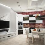 размещение телевизора на кухне