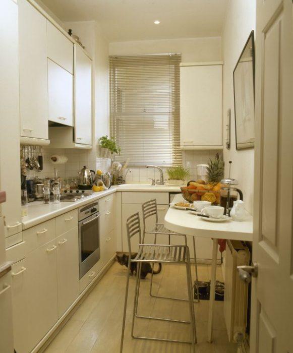 маленькая кухня гостиная планировка