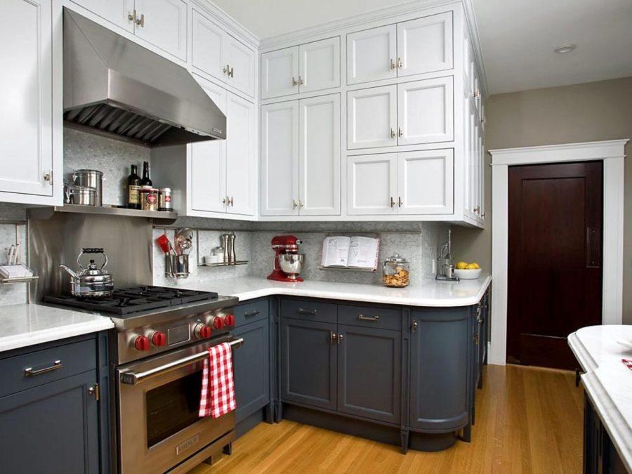 цвет кухни в маленькой кухне фото
