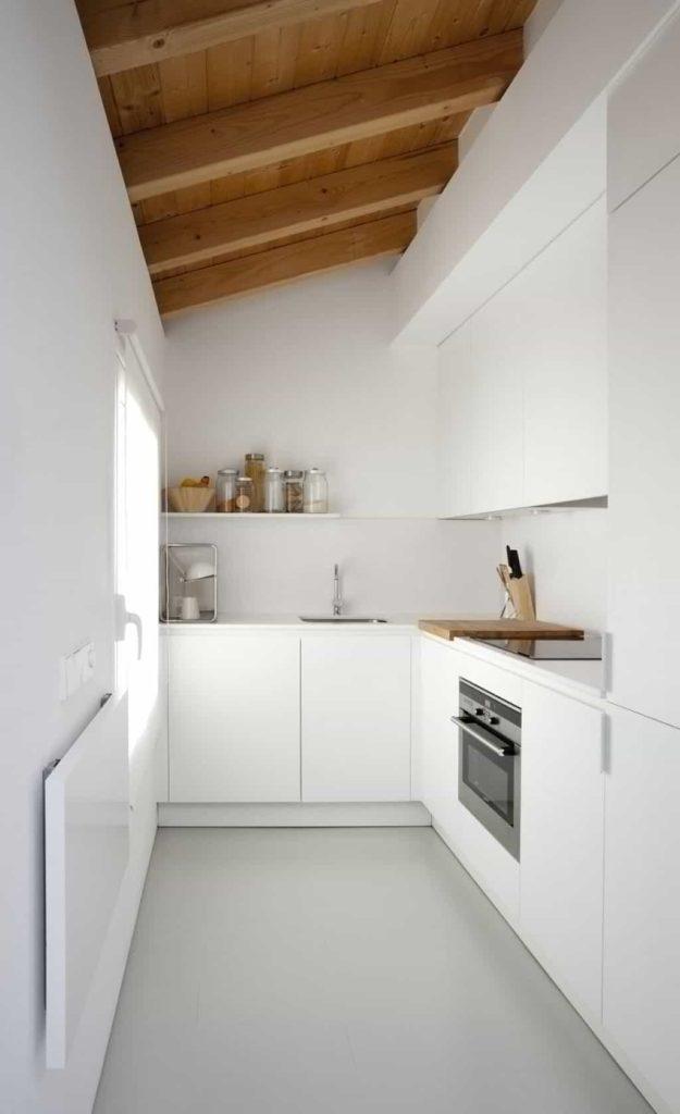 кухни белые минимализм фото