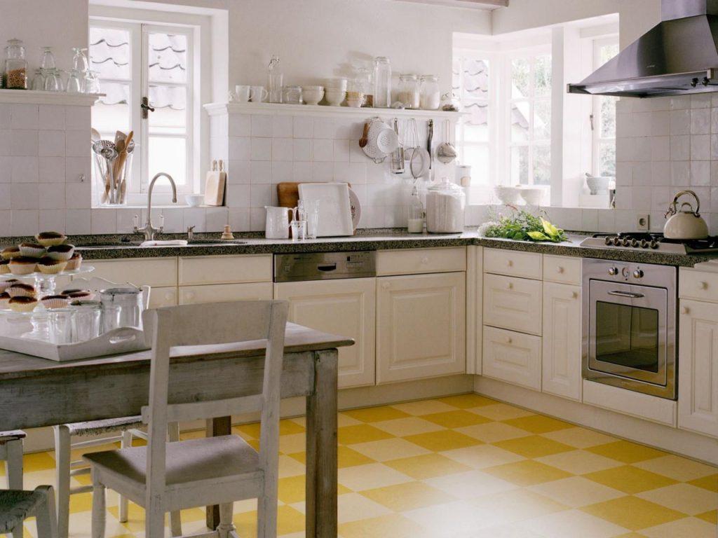 как выбрать линолеум для кухни и коридора