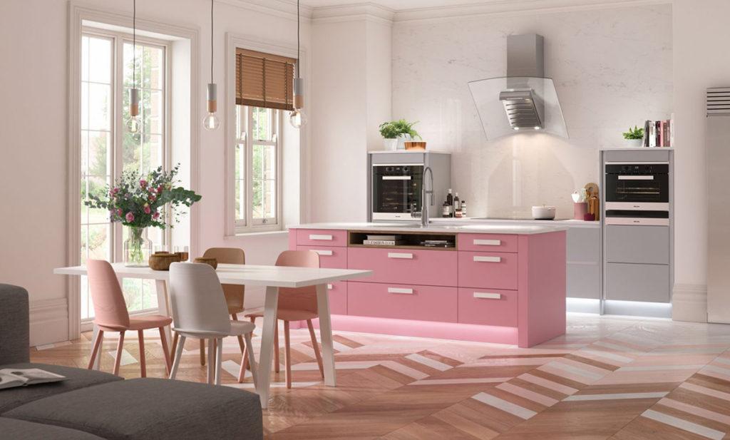 кухни в розовых тонах сочетание цветов