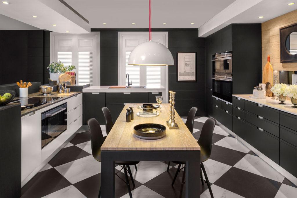 проект планировка кухни столовой