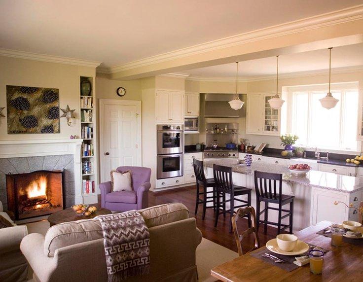 кухня гостиная реальные фото