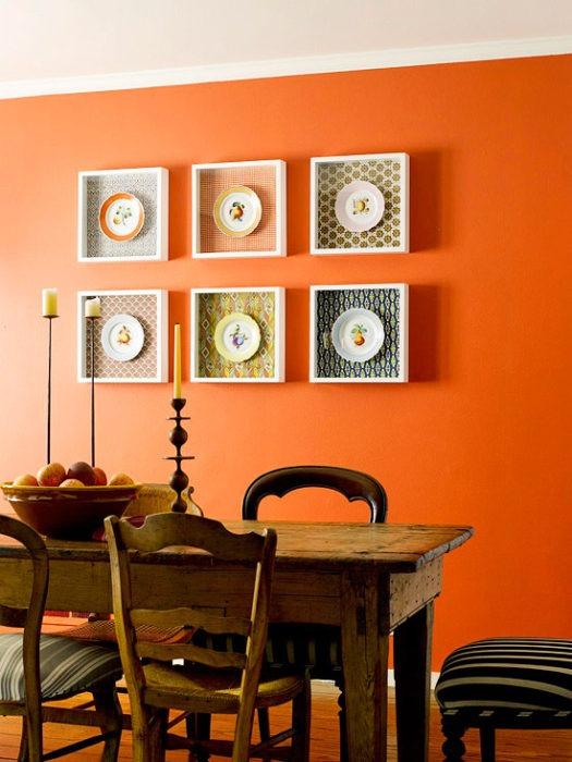 декоративно покрасить стену