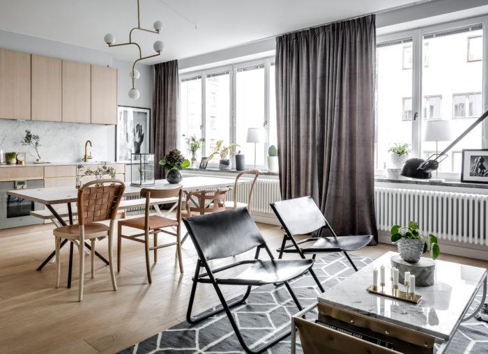 занавески на кухню в современном стиле