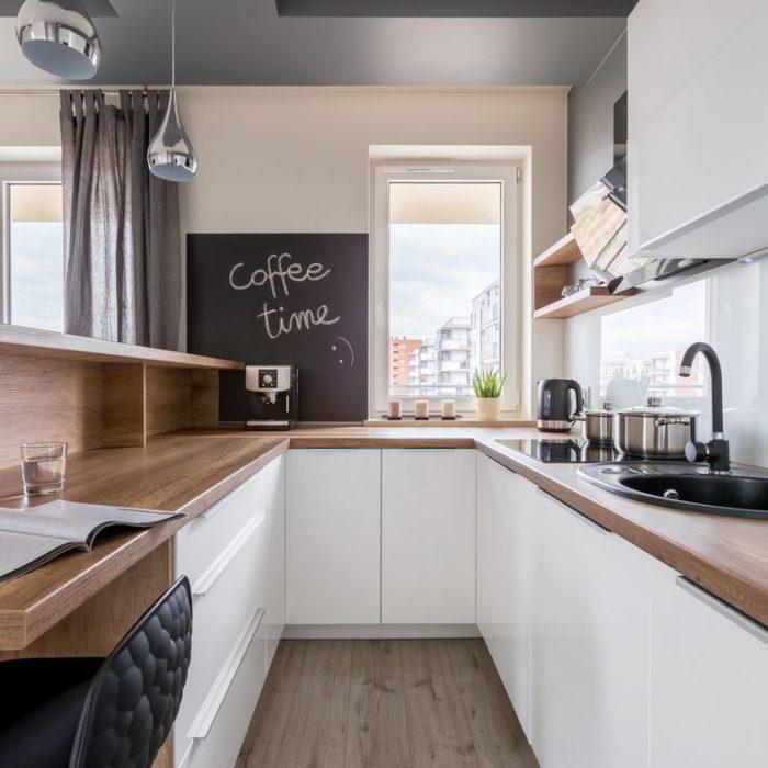 угловой гарнитур для маленькой кухни