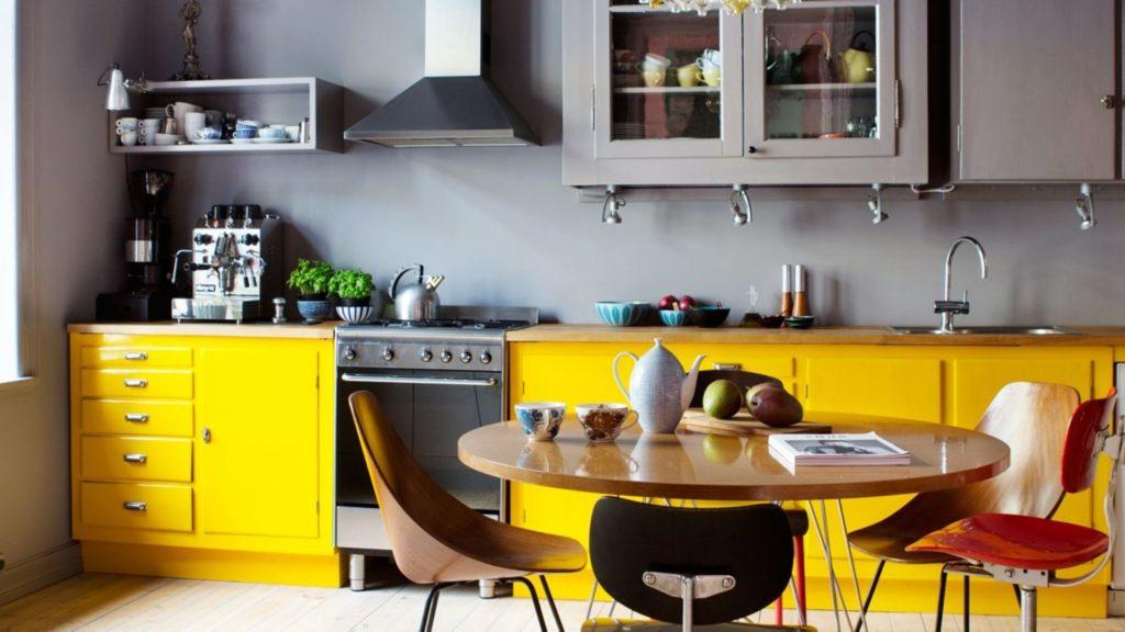 желтые интерьеры фото