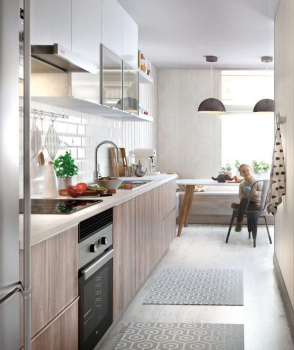 маленькая кухня дизайн фото 6 кв