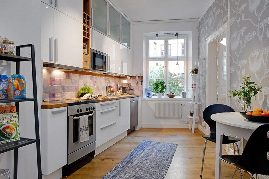 кухня столовая гостиная маленькая