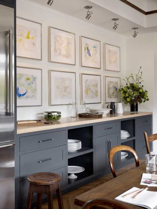 дизайн стен кухни в частном доме