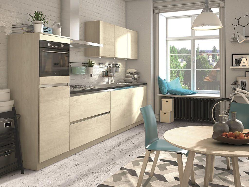 маленькая деревянная кухня интерьер