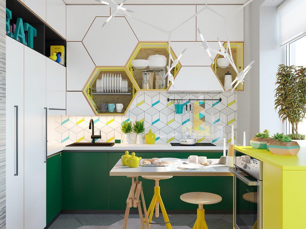 кухня отделка стен дизайн