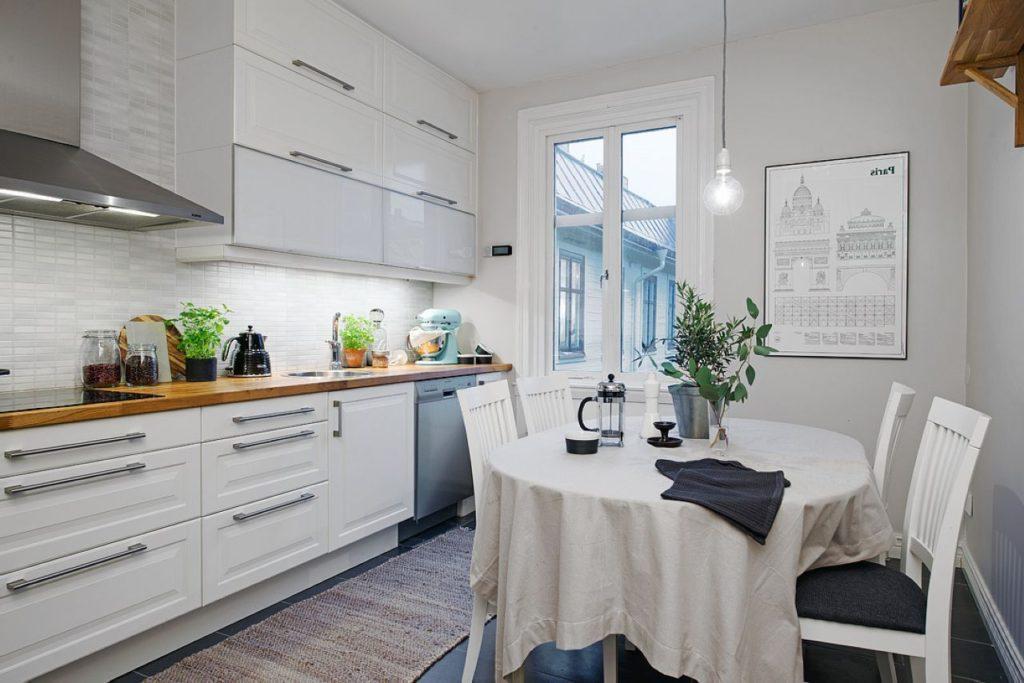 белые скандинавские кухни фото
