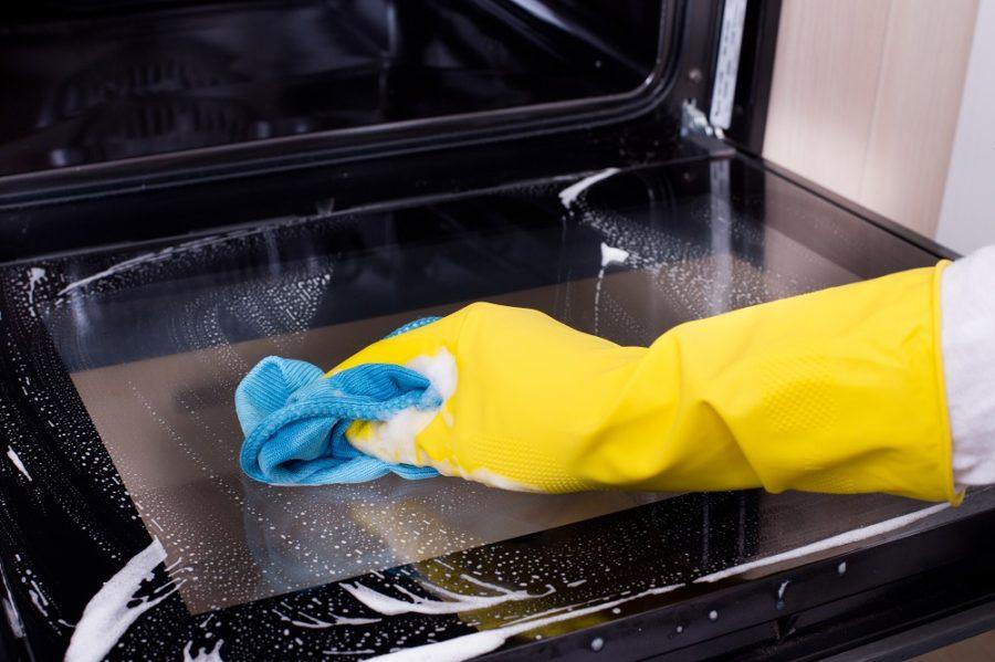 как быстро очистить духовку