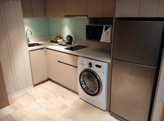 как разместить стиральную машину на кухне
