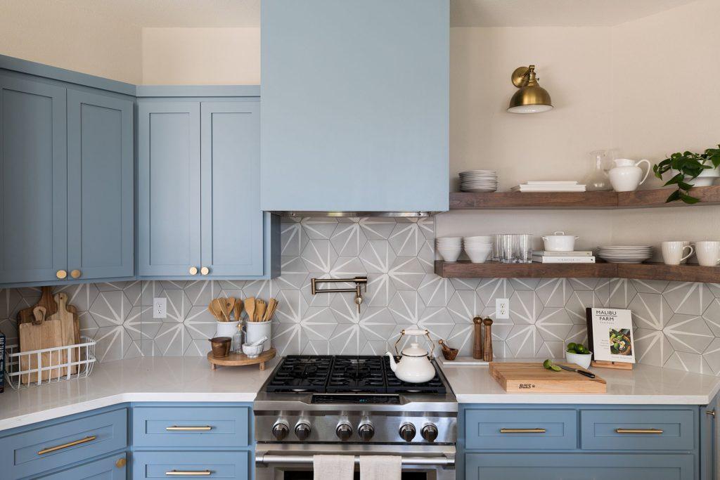 кухни синих цветов фото