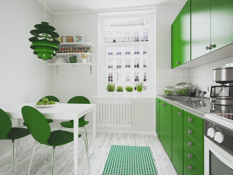 зеленая кухня в хрущевке