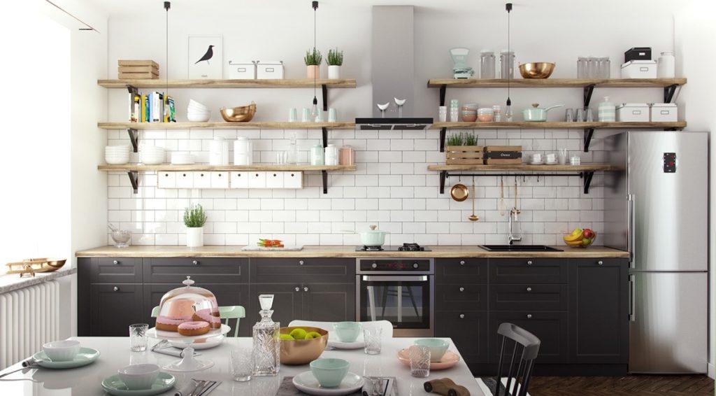 идеи дизайна стен кухни