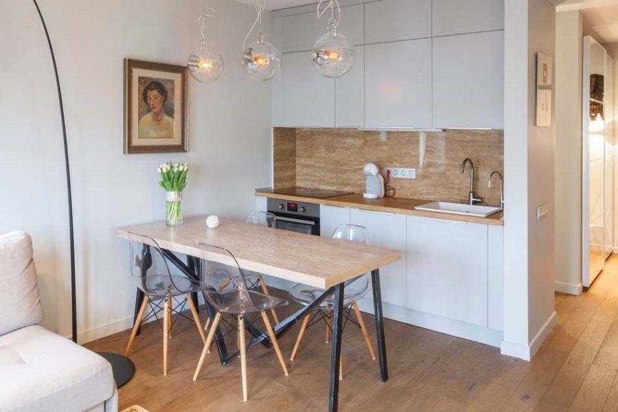 кухня гостиная в доме современный стиль