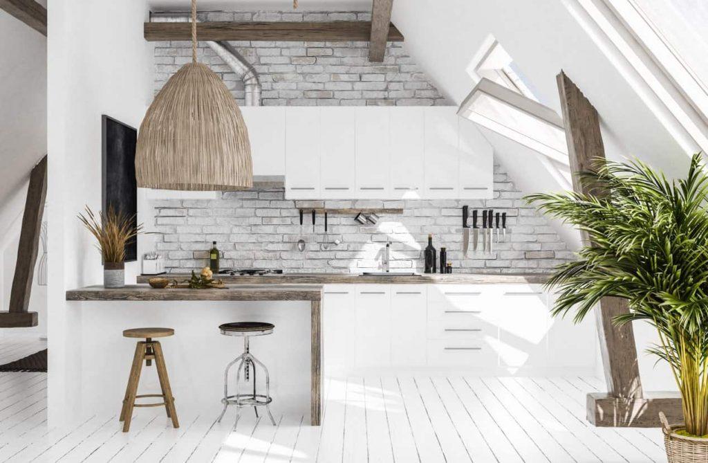 деревянные кухни в скандинавском стиле