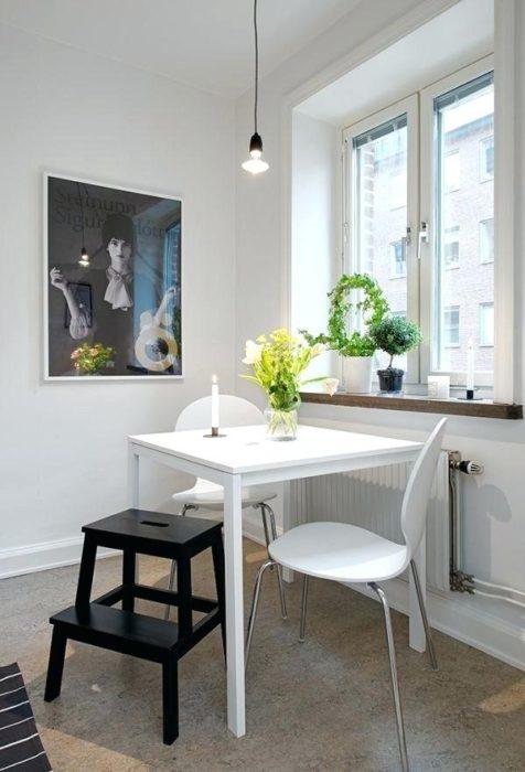 дизайн маленькой столовой в квартире фото