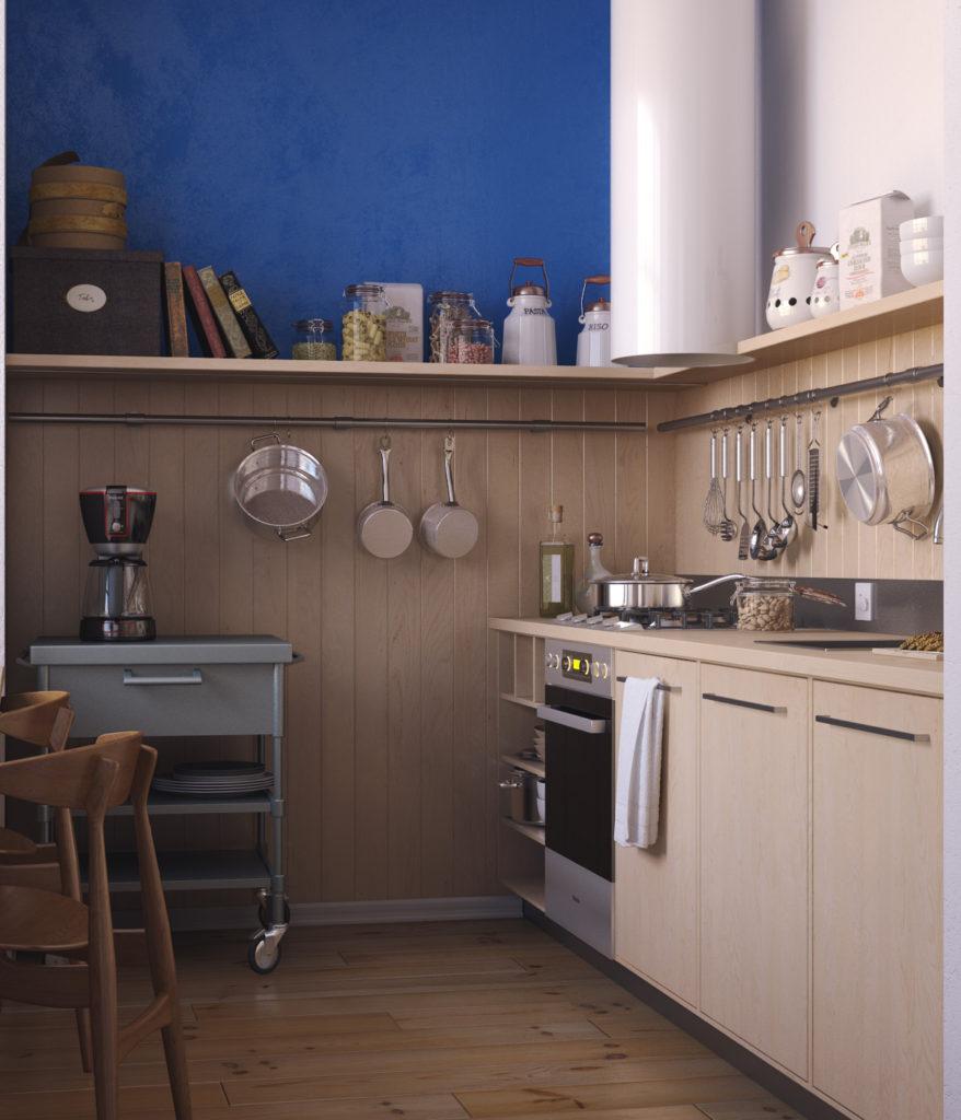 кухонные гарнитуры для маленькой кухни 8