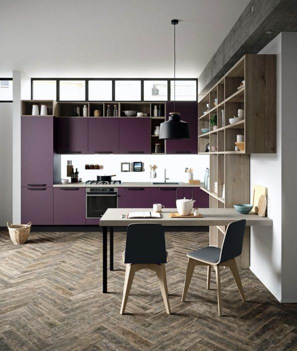 дизайн кухни +в фиолетовых тонах147 кухня +в фиолетовых тонах фото дизайн