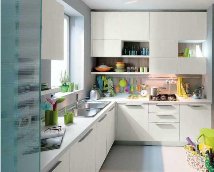 маленькая белая кухня