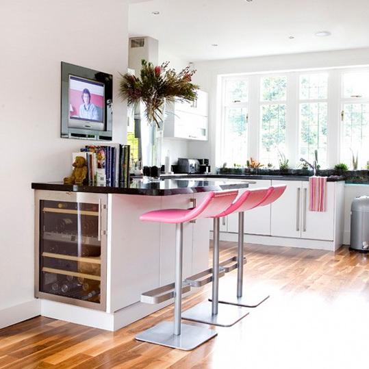 современные кухни с барной стойкой дизайн фото