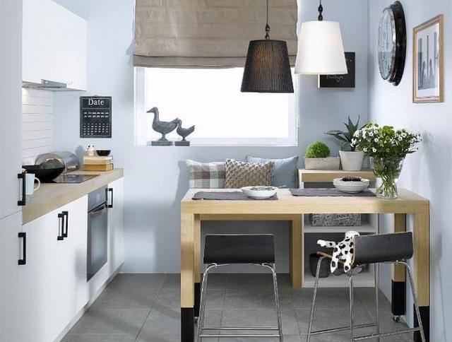 как сделать маленькую кухню больше