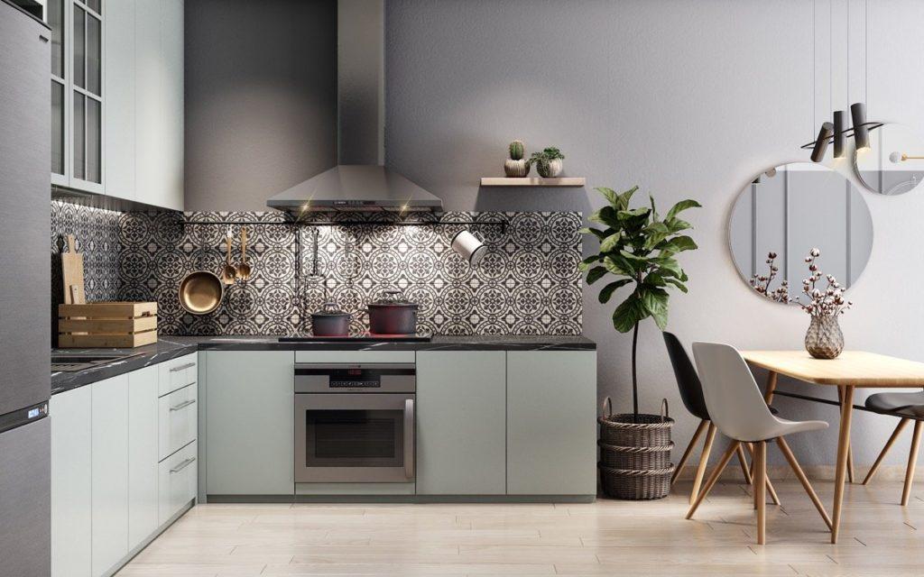 цвета кухонных гарнитуров для маленькой кухни