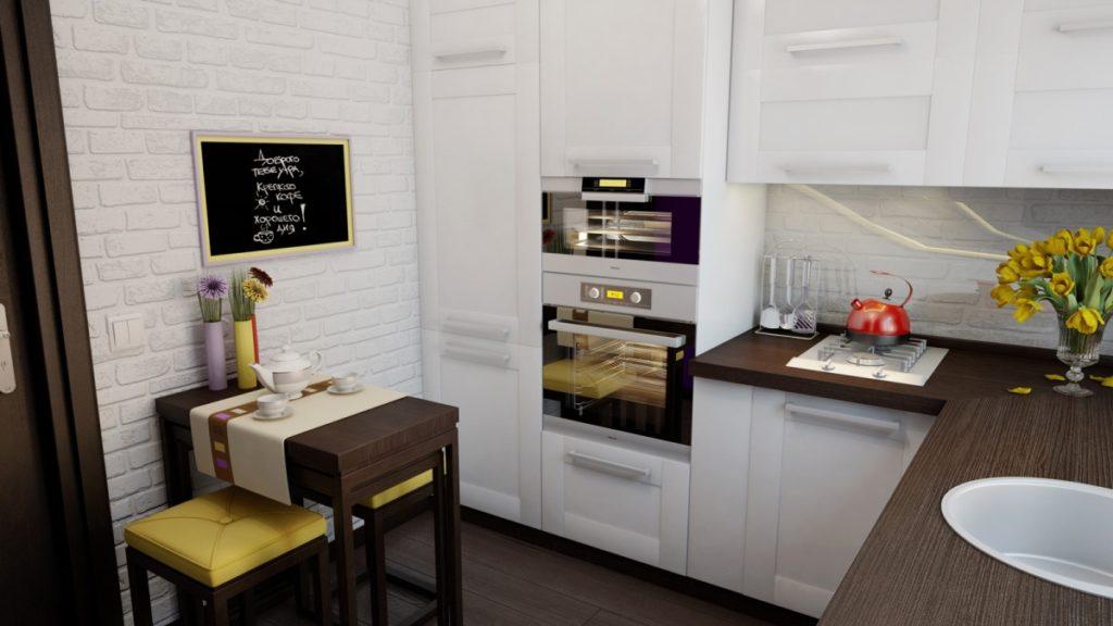 фото маленькой кухни дизайн современный стиль