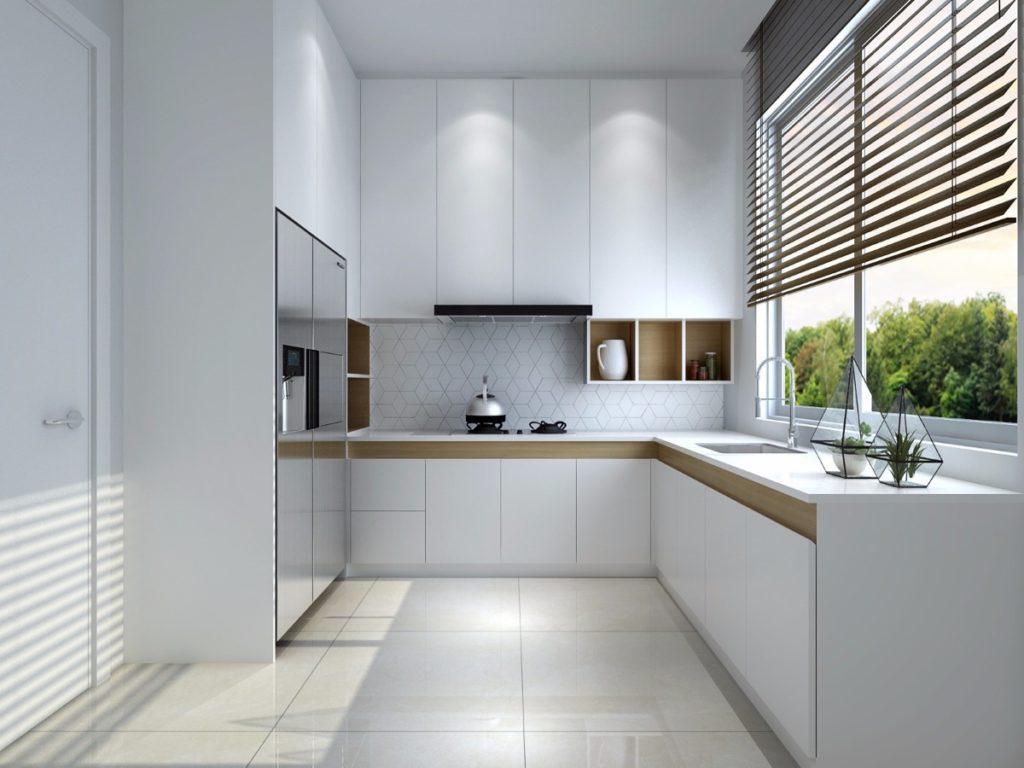 дизайн кухни с окном в частном доме