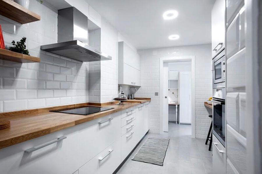 сделать кухню больше