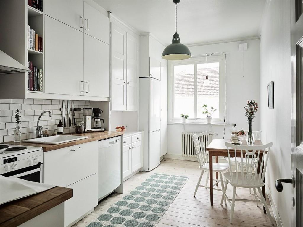 как зрительно увеличить кухню